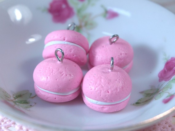4pcs French Macaroons - Pink